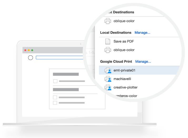 Sử dụng Google Cloud Print