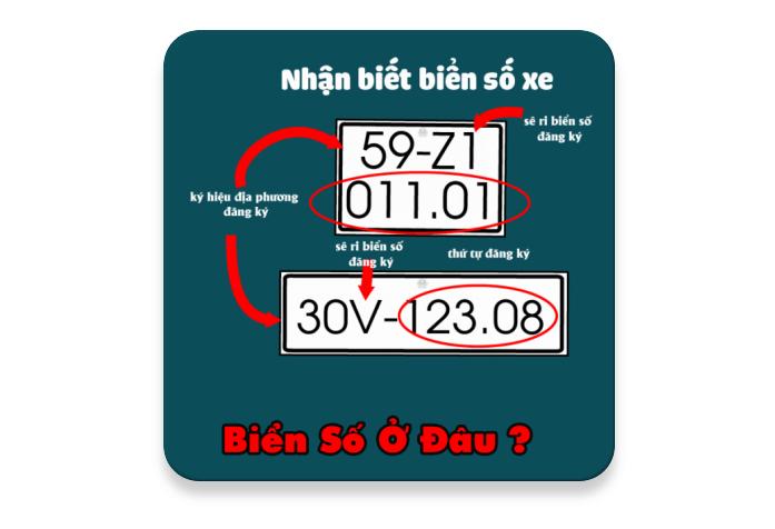 App Biển số xe