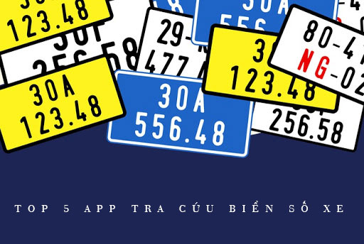 Top 5 app tra cứu biển số xe