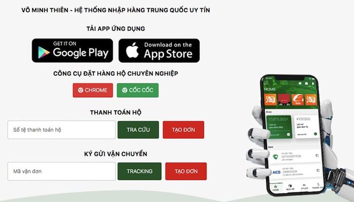 App đặt hàng hộ Trung Quốc - Võ Minh Thiên
