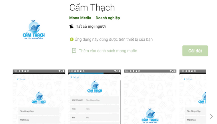 Ứng dụng nhập hàng Quảng Châu - Cẩm Thạch Company